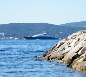134m  Luxury Yacht SERENE spotted cruising the French Riviera