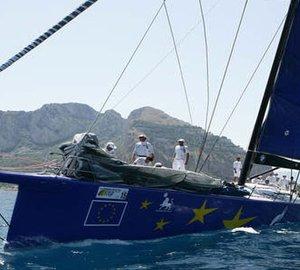 Superyacht Esimit Europa 2 competes in the 2012 Palermo - Monte Carlo regatta