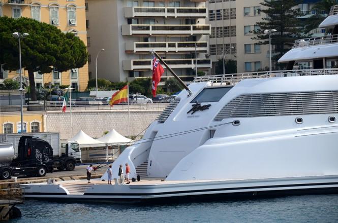 147m megayacht Topaz - rear view
