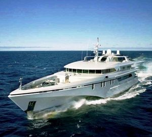 Refit of the 61m motor yacht WHITE RABBIT ECHO by Integrated Marine Group at the half way stage