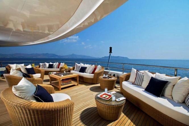 82m mega yacht O'MEGA upper deck