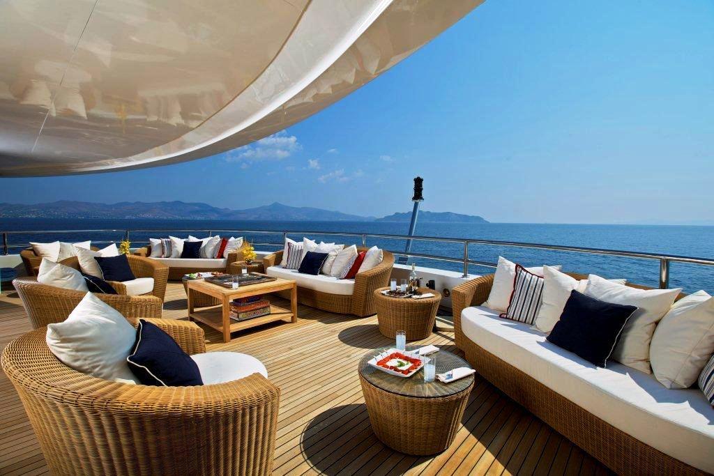 82m mega yacht O'MEGA upper deck — Yacht Charter ...