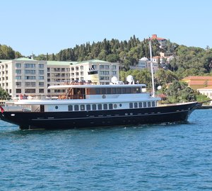 Bilgin 160 Classic luxury yacht M&M on the way to Cote d'Azur to attend the 2012 Cannes Boat Show