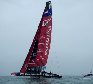 ETNZ's first AC72 catamaran yacht New Zealand wing by Southern Spars completed