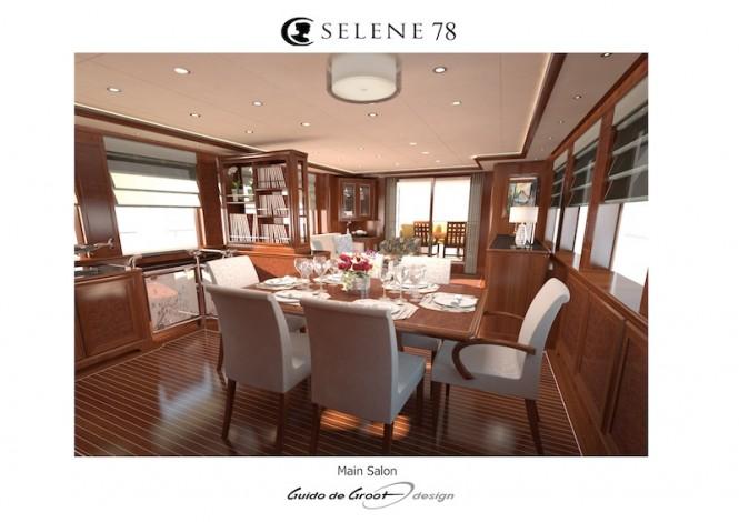 Luxury explorer yacht Selene 78 - Main Salon