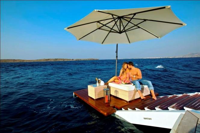 Luxury superyacht O'MEGA - Swim Platform