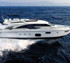 Ferretti Yachts launch the first hull of motor yacht Ferretti 690