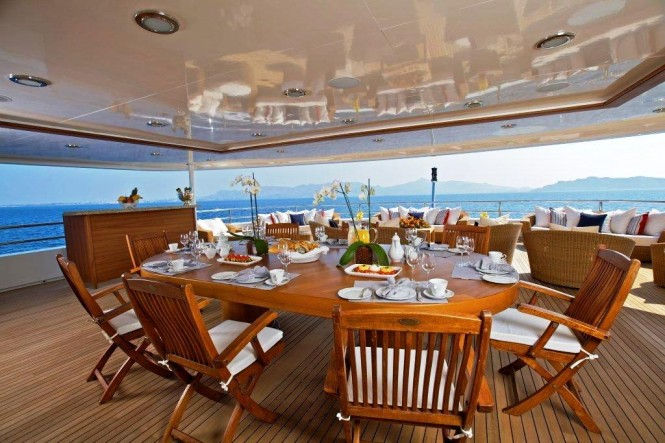 Mega yacht O'MEGA - Upper Deck