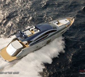 The newly launched Pershing 82 superyacht