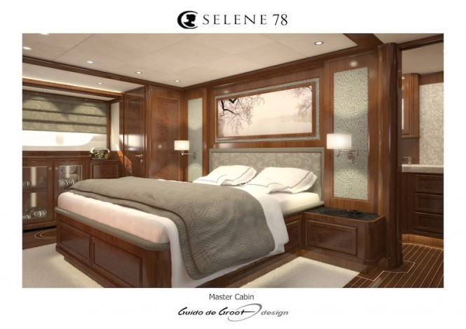 Motor yacht Selene 78 - master cabin