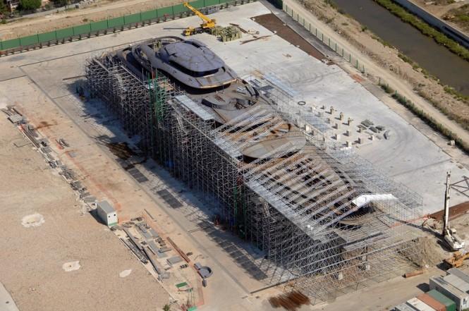 Privilege One megayacht under construction at Privilege Yard