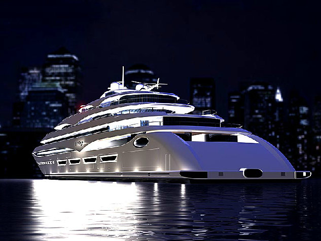 Privilege One superyacht - rear view
