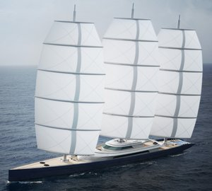 Luxury yacht concepts by Ken Freivokh and Dykstra based on the 88m Perini Navi charter yacht MALTESE FALCON
