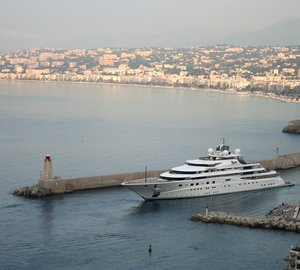147m TOPAZ Yacht photographed on the French Riviera