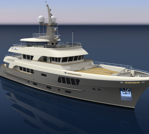 The new 44m motor yacht AY54 by Alloy Yachts with delivery in late 2014