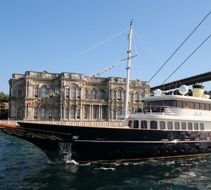 Bilgin Classic 160' superyacht M&M receives the World Yacht Trophy