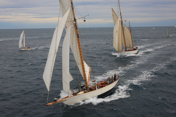 Classic yachts competing in the 2012 Regates Royales