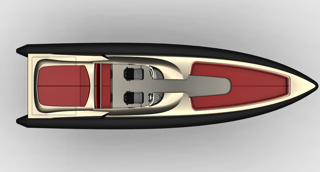 Freccia 1200 yacht - view from above