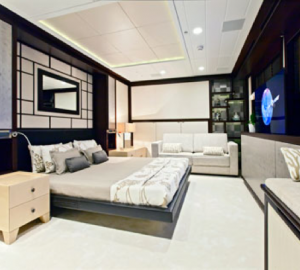 Luxury yacht KARIA and WallyCento Yacht HAMILTON with interior by Design Unlimited at the MYS