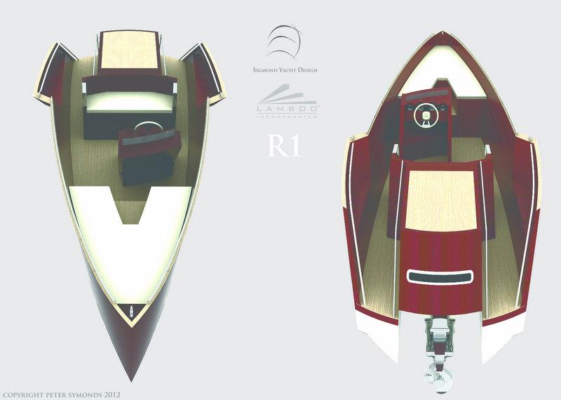 LAMBOO Tender R1 yacht designed by Sigmund Yacht Design - Photo credit Peter Symonds 2012