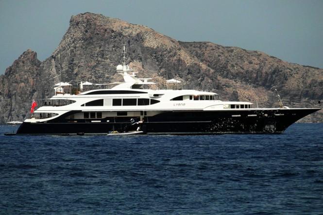 Lyana superyacht at the Aeolian Islands - Sicily - Italy