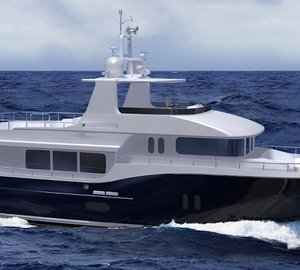 The first motor yacht D75 Explorer by Dauntless Yachts to be launched in November