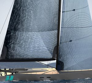 The new 24-metre sailing yacht APC 78 under construction at Green Marine