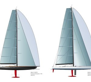 Francois Chevalier's 100ft Maxi Scow yacht and WallyCento superyacht concepts