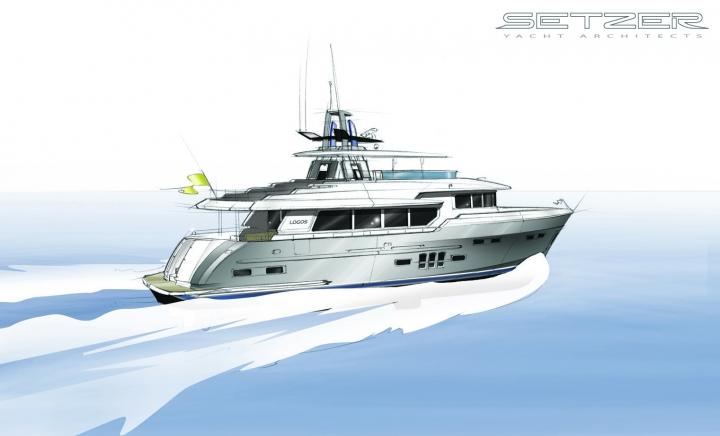 27m superyacht Logos SD - Photo credit 2012 Setzer Yacht Architects