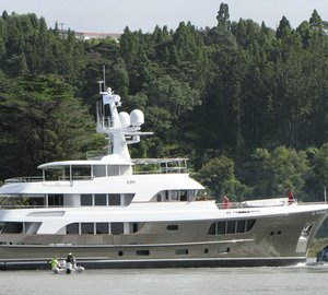 MCM project #155 motor yacht CaryAli launched by Alloy Yachts