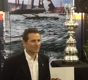 Yachting Pages team celebrate America's Cup Trophy attending the 2012 FLIBS