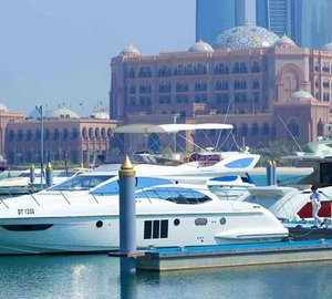 The prominent international Blue Flag award for Emirates Palace Marina