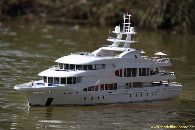 Scale Model Of The 126 M Lurssen Superyacht Octopus