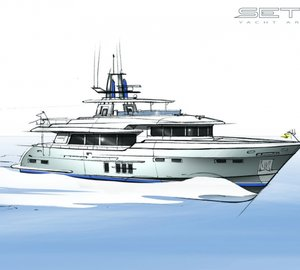 Setzer Yacht Architects designed 27m motor yacht LOGOS SD with delivery in Summer 2014