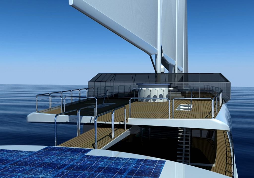 Luxury yacht 'Sail Cruise Vessel' concept - Bridge