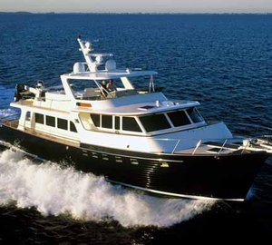 Three spectacular Marlow Explorer Yachts on display at the 2012 FLIBS