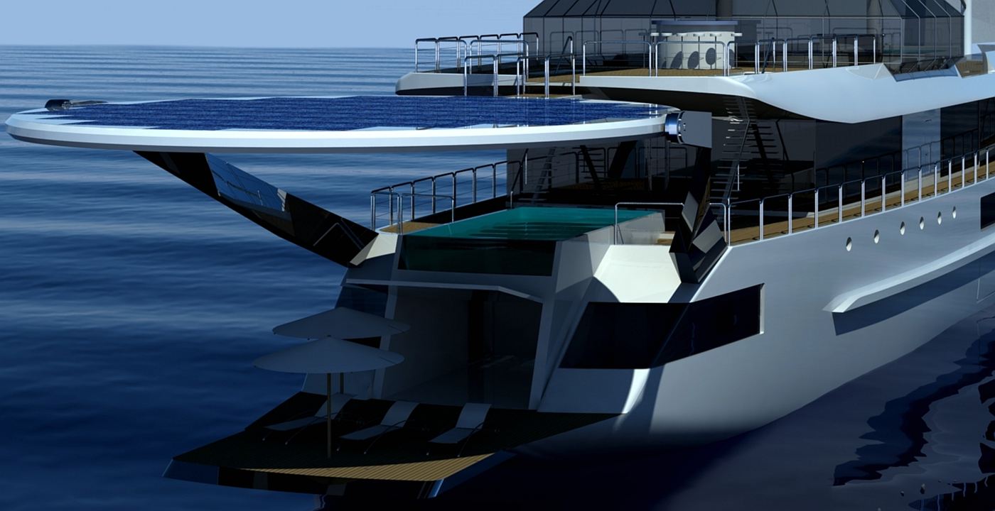 'Sail Cruise Vessel' superyacht - rear view