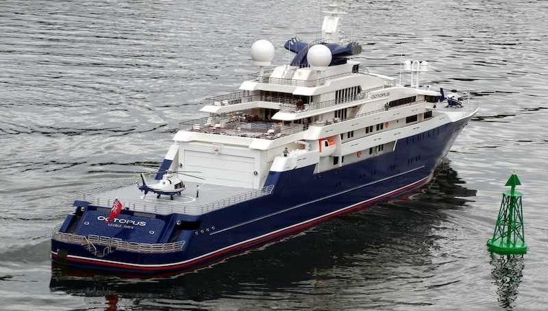 Scale Model Of The 126 M Lurssen Superyacht Octopus Yacht Charter