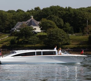 Hodgdon's Hull 413 yacht tender built for a prominent European shipyard launched and delivered