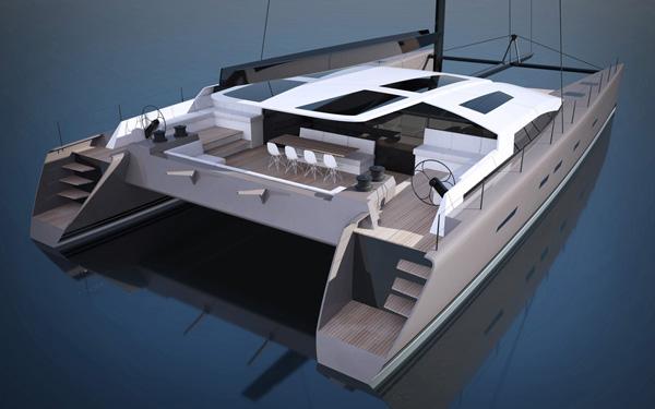 Superyacht SIG80 - rear view