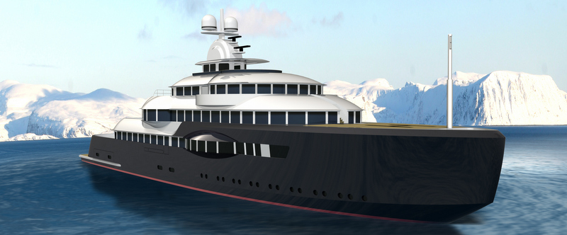 125m motor yacht Narwhal concept by Jorge Jabor