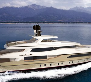 Francesco Paszkowski designed 46m Baglietto displacement yacht project introduced at the 2012 FLIBS