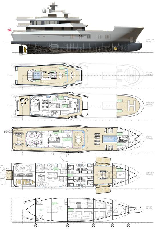 50m superyacht Reach project - Layout — Yacht Charter & Superyacht News
