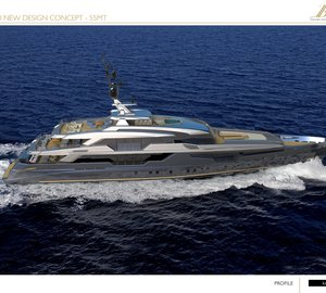 55m Luca Dini Yacht Concept for Benetti Design Innovation Project