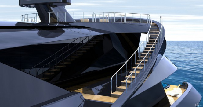 70m motor yacht MANTA concept