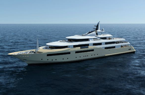 80m megayacht CRN 129 - the biggest superyacht to be launched by CRN Shipyard in January 2013