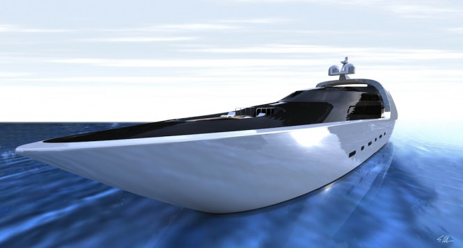 Dramatically looking 70metre luxury mega yacht QUILLON - a concept designed by Scott Henderson