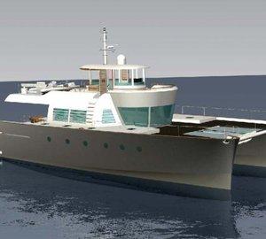 """Alu Marine's luxury catamaran yachts """"NOAH"""" designed by Kenzo Takada"""