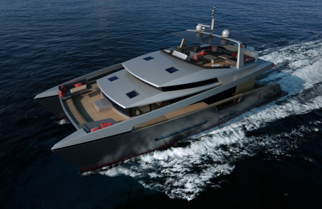 Alu marine shipyard yacht charter superyacht news for Catamarani di lusso