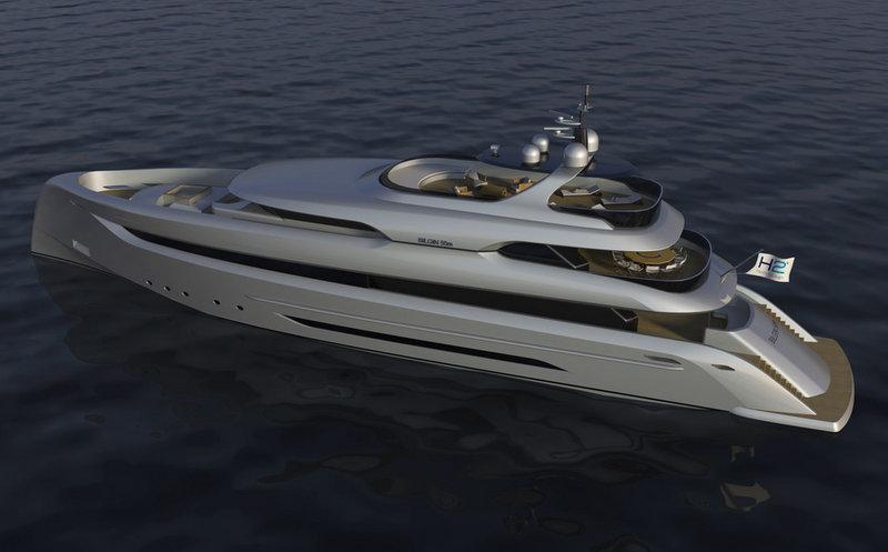 Luxury yacht Bilgin 147 - view from above